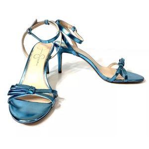 Jessica Simpson Women's Blue Open Toe Heel Sandals